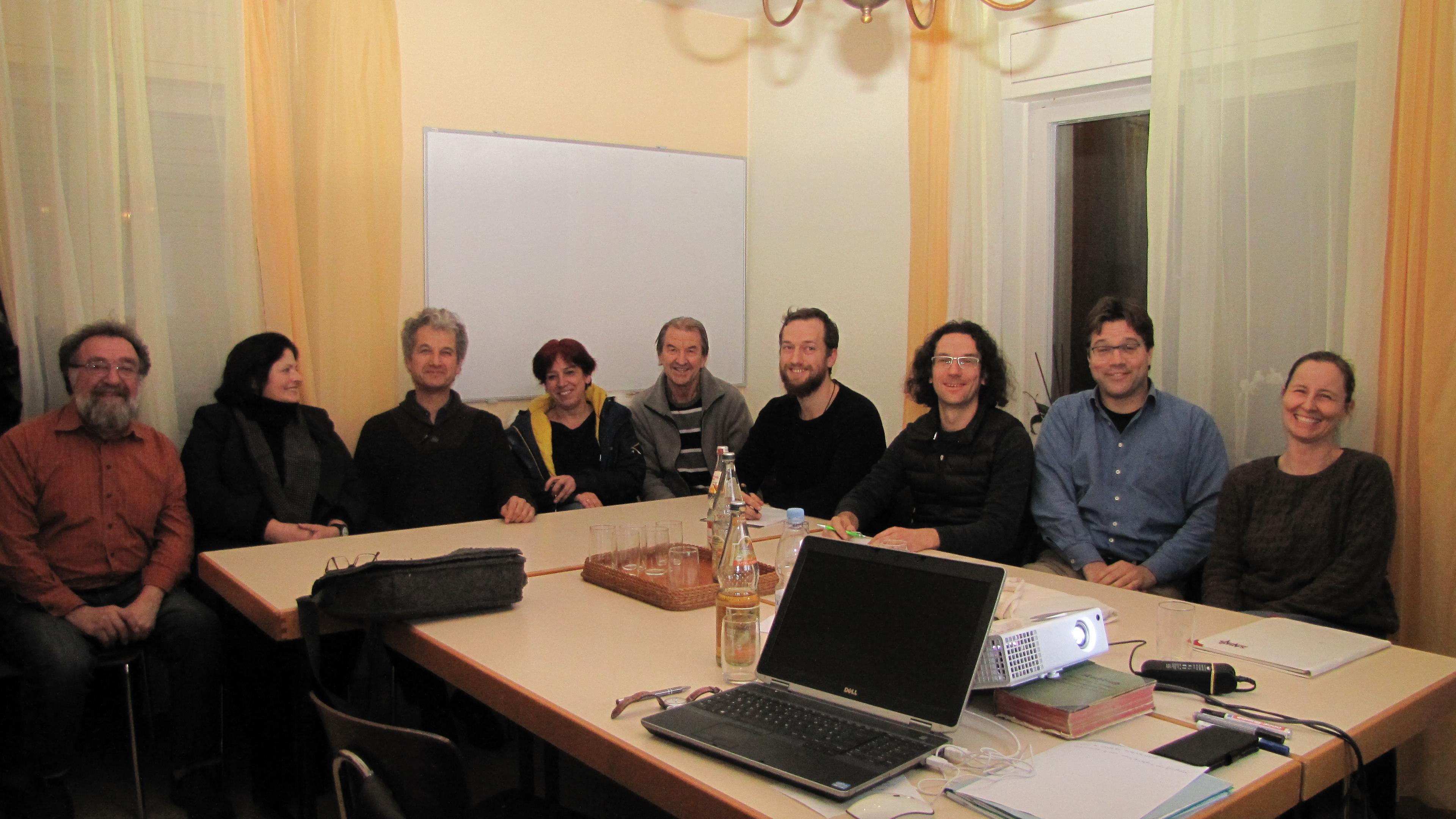 Die Anwesenden Grünen nach der Diskussion um das Wahlprogramm für die Kommunalwahl 2019