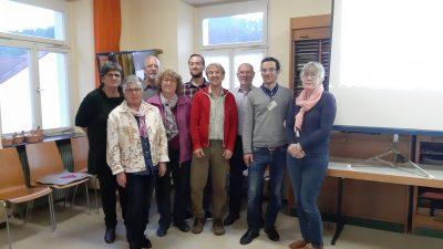 """Vertreter der Initative """"Murg im Wandel"""" und einige Grüne Kandidatinnen und Kandidaten im Rathaus in Fahrnau"""