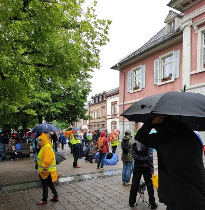 Mahnwache auf dem Schopfheimer Marktplatz