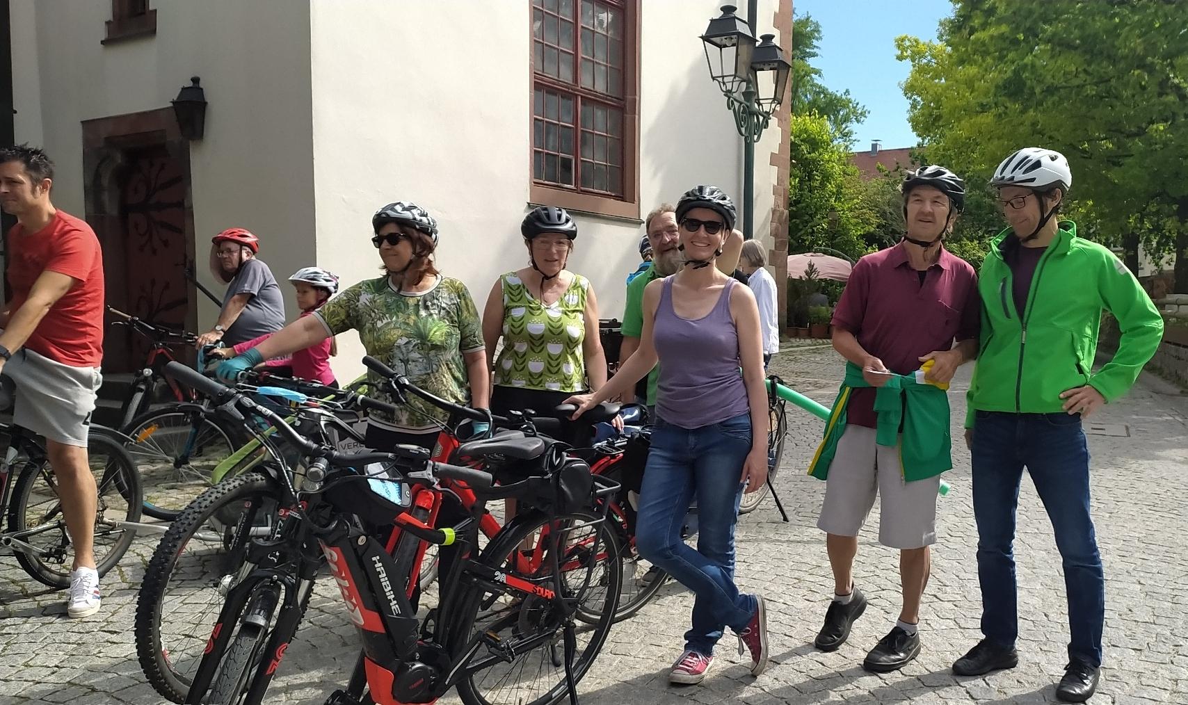 Das Team Grün bei der Erröffnung des Stadtradelns 2021