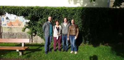 Felix, Elke, Sebastian und MArianne im Stadtpark Schopfheim